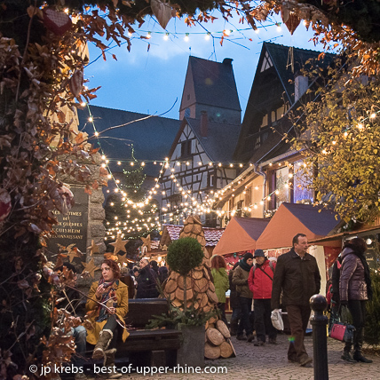 The Christmas market in Eguisheim, south west of Colmar, deserves a visit. See my blog for details.