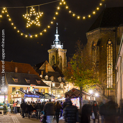 Christmas market in Colmar. Colmar is a beautiful city with famous Christmas markets.