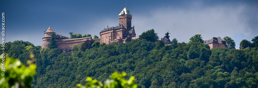 The castle of Haut-Koenigsbourg dominates the plain of Alsace