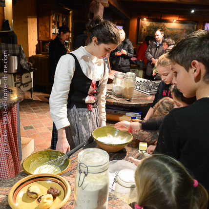 For children at Christmas time: bredele workshop for making the delicious Alsatian Christmas cookies.